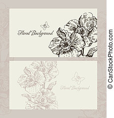 Design with floral background