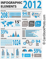 Detail infographic vector illustration 2012. World Map and Information Graphics