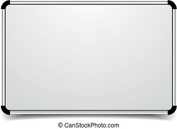 detailed illustration of a blank whiteboard, eps10 vector
