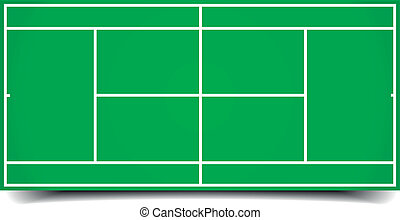 detailed illustration of a tennis court, eps10 vector