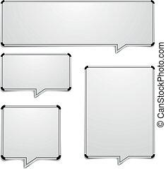 detailed illustration of whiteboard speech bubbles, eps10 vector