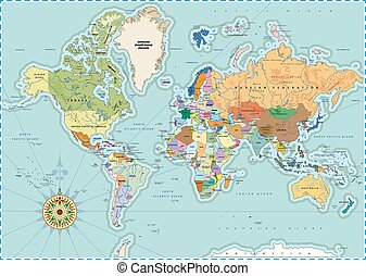 Detailed Political World Map