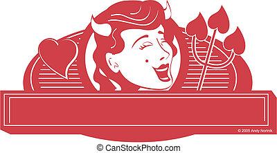 Devil girl clip art graphic