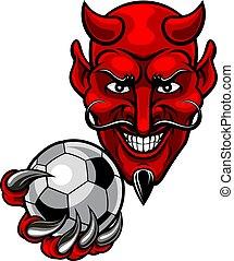 Devil Soccer Football Mascot