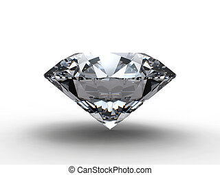 Diamond on blue background with reflection
