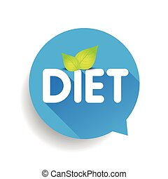 Diet label vector speech bubble
