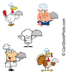 Different Chef Cartoon Mascot