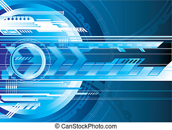 Blue Futuristic technology background vector illustration layered.