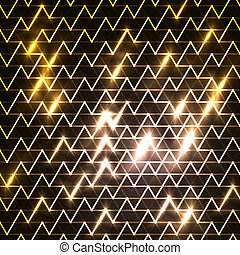 digitally generated image of blue light and stripes moving fast over black background vector