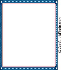 Digitally generated image of empty photo frame with american flag border.
