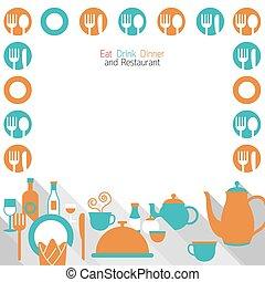 Eat, Dinner, Restaurant Set