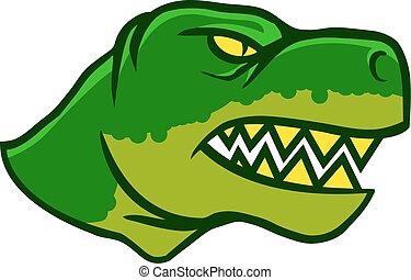 Dinosaurus Head Side View