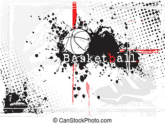 basketball ball on the dirty background