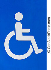 A photograph of a disability sign