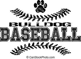 bulldog baseball design
