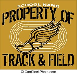 distressed property of track and field team design for school, college or league