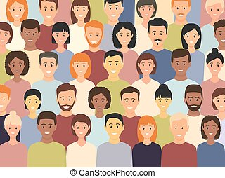 Diverse multicultural group of people standing together