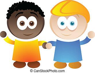 A cartoon illustration depicting diversity