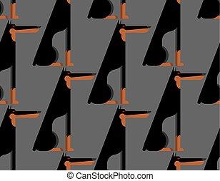 Doberman pattern seamless. dog background. Pet ornament. Vector illustration