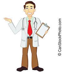 Vector illustration of doctor cartoon character