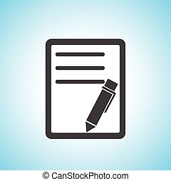 document with pen/paper icon