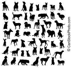 Dog Activity Silhouettes