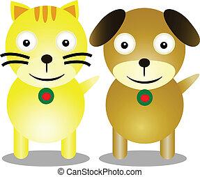 dog and cat cartoon friendship