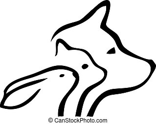 Dog and Cat heads