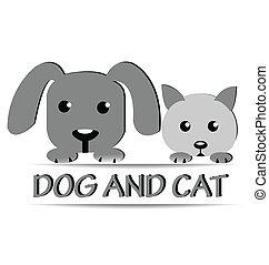 Dog and cat logo design