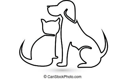 Dog and Cat silhouette logo