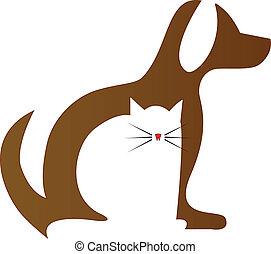 Dog and Cat veterinary logo