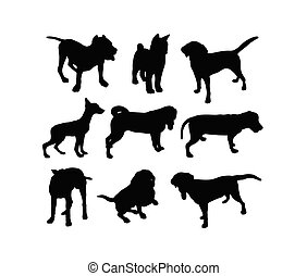 Dog Animal Silhouettes