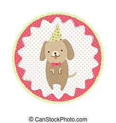 Dog badge emblem
