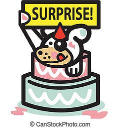 Dog Birthday Cake Surprise Party