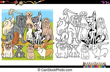 dog breeds coloring page