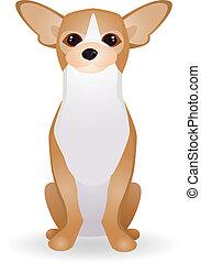 Vector illustration of dog cartoon