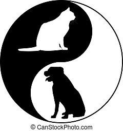 Dog cat logo icon