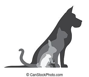 Dog cat rabbit hamster
