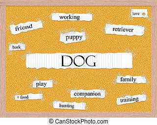 Dog Corkboard Word Concept
