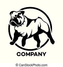 Dog English Bulldog logo