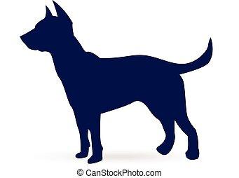 Dog (German shepherd) silhouette