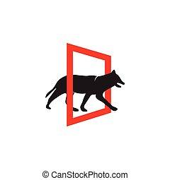 Dog icon logo design inspiration vector template