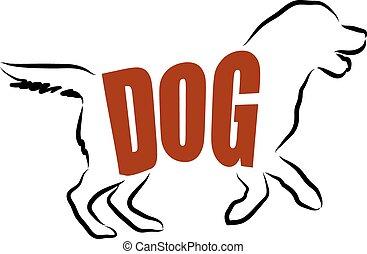 DOG LETTERING ILLUSTRATION