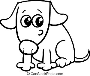 dog or puppy coloring book