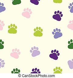 dog paws, pattern, print, trace, color, animal adoption