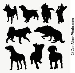 Dog pet animal silhouette 1
