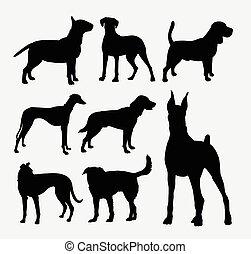 Dog pet animal silhouette 2