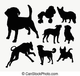 Dog pet animal silhouette 3