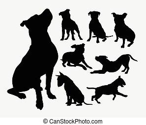 Dog pet animal silhouettes