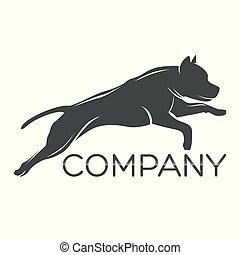 Dog Pitbull logo